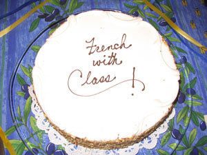 French with Class cake